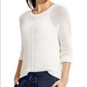 Athleta Amity Open Knit Sweater in White